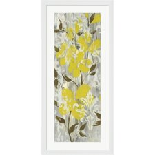 Buttercups on Grey I by Jennifer Goldberger Frame Painting Print