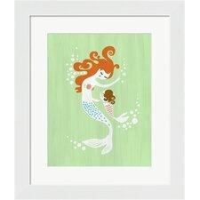 Mermaid and Baby Girl Framed Art