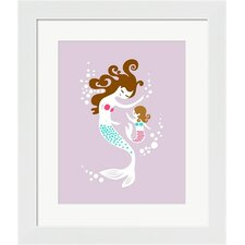 Mermaid and Daughter Framed Art