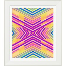 Neon Boho Tribal Geometric by Evie Alessandria Framed Graphic Art
