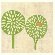 Best Friends Trees by Chariklia Zarris Painting Print