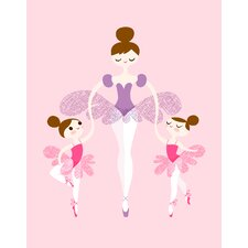 Ballerina and Twins Paper Print
