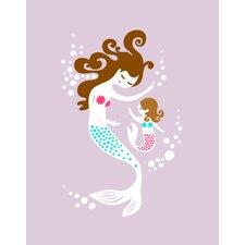 Mermaid and Daughter Paper Print