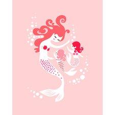 Mermaid and Twin Daughter Paper Print
