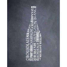 Wine Bottle by Susan Newberry Textual Art