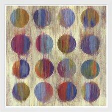 Ikat Dots II Aimee Wilson Framed Painting Print