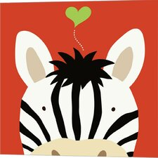 Peek-A-Boo Zebra by Yuko Lau Graphic Art on Canvas