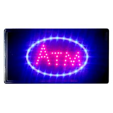 "10"" x 19"" Animated Motion LED Neon Light ATM Sign"