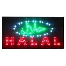 "12"" x 23"" Animated LED Halal Sign"