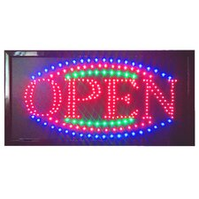 "<strong>DSD Group</strong> 12"" x 23"" Animated LED Open Sign"