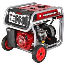 Electric Start 12,000 Watt Gasoline Generator with Wheel Kit and Battery