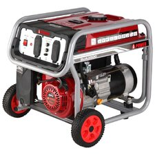 3,500 Watt Portable Gas Generator with Wheel Kit