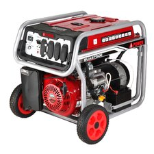 Electric Start 5,750 Watt Portable Gas Generator with Wheel Kit and Battery