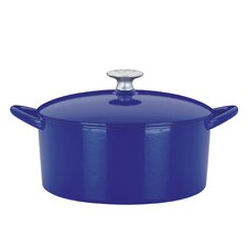 <strong>Mario Batali</strong> 6-Qt. Cast Iron Round Dutch Oven with Lid