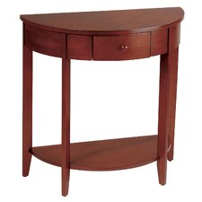 <strong>OSP Designs</strong> Madison Half Moon Console Table