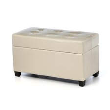 Metro Collection Rectangular Vinyl Storage Ottoman