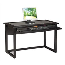 <strong>OSP Designs</strong> Meridian Computer Desk in Black