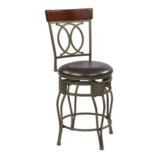 "<strong>OSP Designs</strong> Cosmo 24"" Swivel Bar Stool with Cushion"