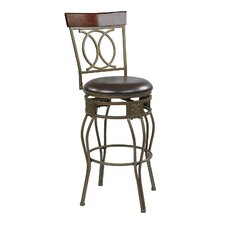 "Cosmo 30"" Swivel Bar Stool with Cushion"