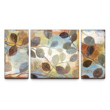 Autumn Muse Textured Triptych 3 Piece Painting Print on Canvas Set