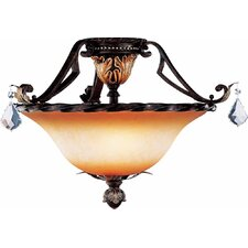 Andalusia 3 Light Ceiling Fixture Flush Mount