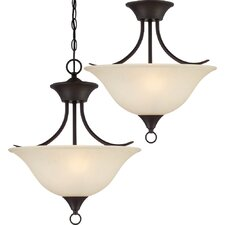 Trinidad 2 Light Pendant or Semi Flush Mount