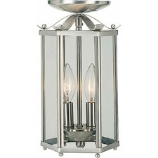 2 Light Pendant or Semi Flush Mount