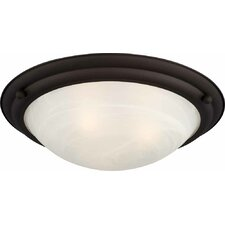 Lunar 2 Light Ceiling Fixture Flush Mount
