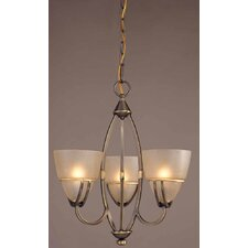 Gallery 3 Light Chandelier or Semi Flush Ceiling Mount