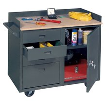 Mobile Service Wood Top Workbench