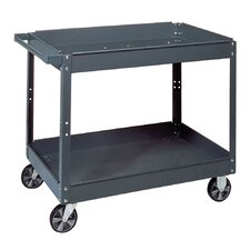 "20"" 2-Tray Steel Service Cart"
