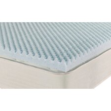 "iPedic 2"" Convoluted Gel Memory Foam Topper"