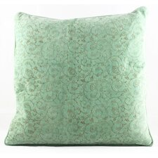 Handblocked Cotton Velvet Cushion