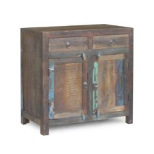 Reclaimed Wood 2-Door 2 Drawer Sideboard Cabinet