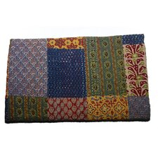 Handmade Block Print Patchwork Cotton Throw