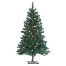 3' Green Colorado Spruce Christmas Tree with 150 Clear Lights with Stand