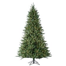 <strong>Sterling Inc.</strong> 7.5' Natural Cut Hawthorn Pine Christmas Tree with 600 Clear Lights with Stand
