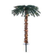 3' Green Pathway Tropical Artificial Christmas Tree with 70 Clear Lights