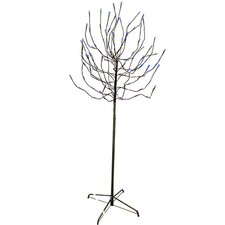 5.5' Bud Artificial Christmas Tree with 140 Blue LED Lights