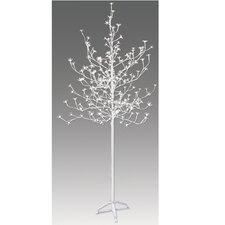 6.5' Blossom Artificial Christmas Tree with 240 Cool White LED Lights with a Trunk