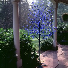6.5' Blossom Artificial Christmas Tree with 240 Blue LED Lights