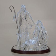 <strong>Sterling Inc.</strong> 4 Piece Acrylic Holy Family on Wooden Base with Light