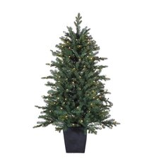 <strong>Sterling Inc.</strong> 4.5' Natural Cut Lenox Pine Christmas Tree with 200 Clear Lights with Pot and Stand