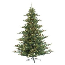 7.5' Natural Cut Deluxe Layered Oregon Pine Christmas Tree with 850 Clear Lights with Stand