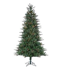<strong>Sterling Inc.</strong> 7.5' Natural Cut Franklin Spruce Christmas Tree with 500 Multi Lights with Stand