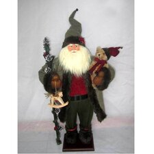 Standing Santa with Bear and Rocking Horse