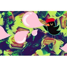 """Bubble Bird"" Graphic Art on Canvas"