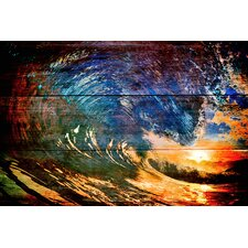"""Catch A Big Wave"" Graphic Art on Canvas"