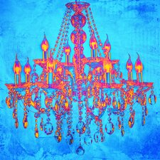 """Tropic Chandelier"" Graphic Art on Canvas"