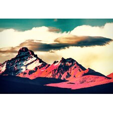 """Vivid Peak"" Graphic Art on Canvas"